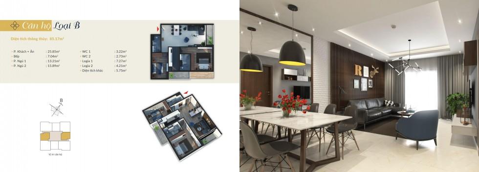 Thiết kế căn hộ B Bohemia Residence